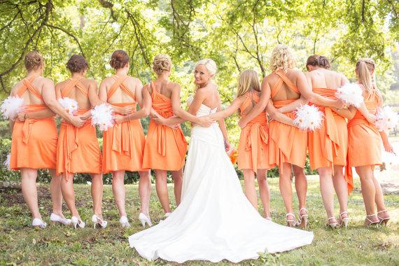 Orange Gown Wedding: Turquoise And Orange Wedding