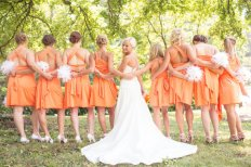 Orange convertible bridesmaid dresses - www.etsy.com/shop/StaysiLee