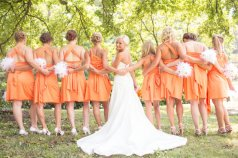 Orange convertible bridesmaid dresses - www.etsy.com/shop/StaysiLee