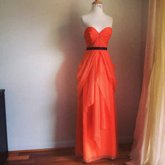 Orange wedding dress the for Etsy dresses for weddings