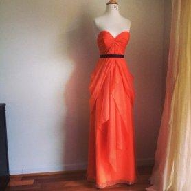 Orange wedding dress - www.etsy.com/shop/TingBridal