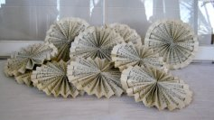 Paper sheet music rosettes - www.etsy.com/shop/PeacockAttic