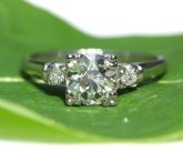 Platinum diamond ring - www.etsy.com/shop/BeautifulPetra