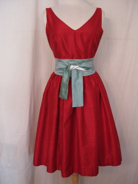 Red bridesmaid dress for Best etsy wedding dress shops
