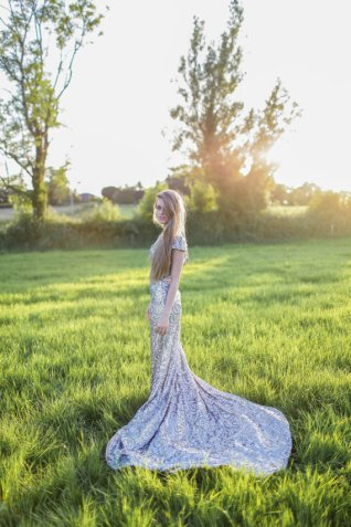 Silver wedding dress - www.etsy.com/shop/GibsonBespoke
