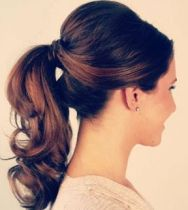 Stylish ponytail {via etcweddings.com}