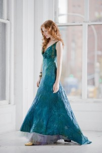 Teal wedding dress - www.etsy.com/shop/momosoho