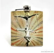 Trapeze artist hip flask gift for groomsmen - www.etsy.com/shop/LadyRene