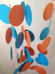 Turquoise and orange garland - www.etsy.com/shop/ChhaysHandiCraft