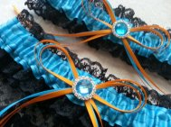 Turquoise and orange garters - www.etsy.com/shop/AussieWeddingGarters
