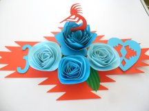 Turquoise and orange table number - www.etsy.com/shop/SpecialtyPaper