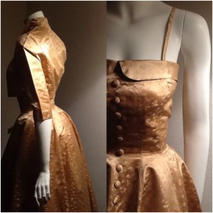 Vintage 1950s gold wedding dress - www.etsy.com/shop/VintessentialGoods