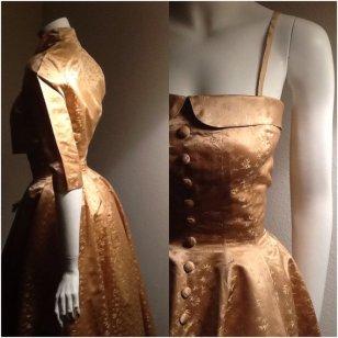 Vintage 1950s gold wedding dress - www.etsy.com/shop/VintessentialGoods