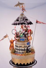 Vintage circus cake topper - www.etsy.com/shop/OvertheTopStudios