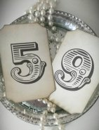 Vintage circus table numbers - www.etsy.com/shop/LiziLoves