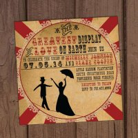 Vintage circus wedding invitation - www.etsy.com/shop/AuroraGraphicStudio