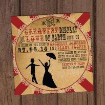 Vintage circus wedding invitation - www.etsy.com/shop/AuroraGraphicStudio