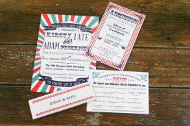 Vintage circus wedding invitation - www.etsy.com/shop/Bdesignsinvitations