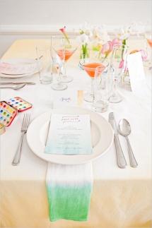 Watercolor table setting idea {via weddingchicks.com}