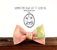 Watercolour bow tie - www.etsy.com/shop/durianandtheLyon