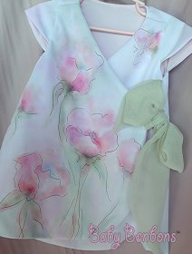 Watercolour flower girl dress - www.etsy.com/shop/Babybonbons