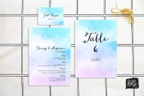 Watercolour reception pack - www.etsy.com/shop/RubyMayDesign