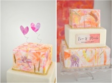 Watercolour wedding cake inspiration {via mercinewyork.com}