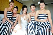 Black and white striped bridesmaid dress - www.etsy.com/shop/CAIY