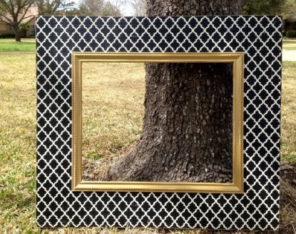 Black, white and gold oversized photobooth frame - www.etsy.com/shop/rubyandlucyframes