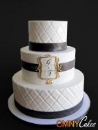 Black, white and gold wedding cake inspiration {via cmnycakes.com}