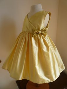 Gold flower girl dress - www.etsy.com/shop/AnnaandAlex