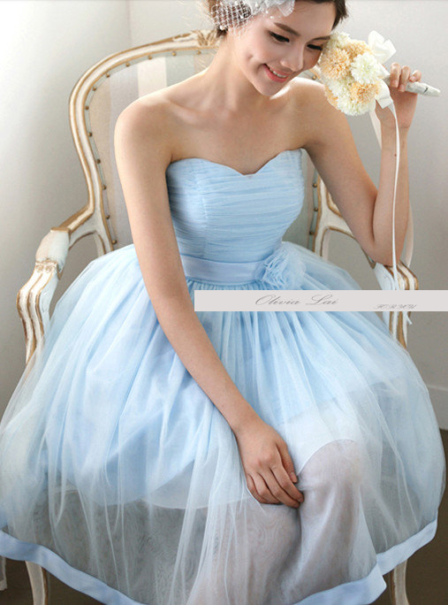 Light blue bridesmaid dress for Best etsy wedding dress shops