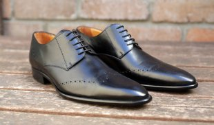 Men's black leather dress shoes - www.etsy.com/shop/MatadorShoes