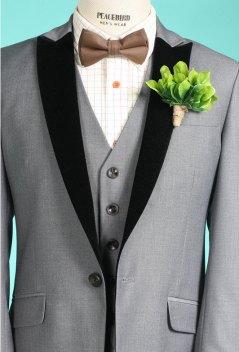 Men's grey suit - www.etsy.com/shop/ThreeUglyDuckling