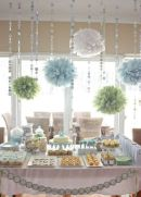 Mint and light blue dessert table {via juxtapost.com}
