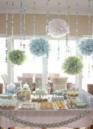Mint and light blue dessert table {via juxtapost.com}