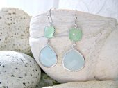 Mint and light blue earrings - www.etsy.com/shop/LetItBeLove