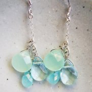 Mint and light blue necklace - www.etsy.com/shop/smallbluethings