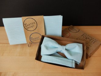 Mint bow tie and pocket square set - www.etsy.com/shop/BartekDesign