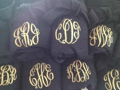 Monogrammed robes for bridesmaids - www.etsy.com/shop/OccassionsEmbroidery