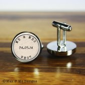 Personalised cufflinks - www.etsy.com/shop/MaxandMeDesigns
