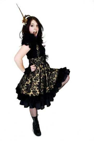 Steampunk bridesmaid dress - www.etsy.com/shop/KMKDesignsllc