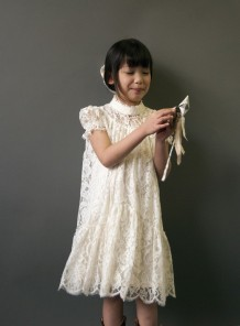 Steampunk lace flower girl dress - www.etsy.com/shop/FoxnLily