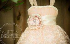 Blush and champagne flower girl dress - www.etsy.com/shop/littledreamersinc