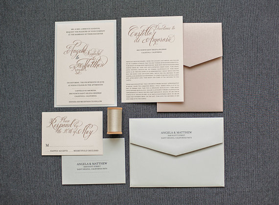 published september 13 2014 at 570 420 in champagne and blush wedding - Blush Wedding Invitations