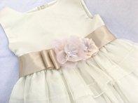 Champagne and blush flower girl dress - www.etsy.com/shop/AGoddessDivine