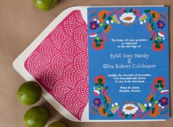 Colourful wedding invitation - www.etsy.com/shop/WeddingInvitationsVP