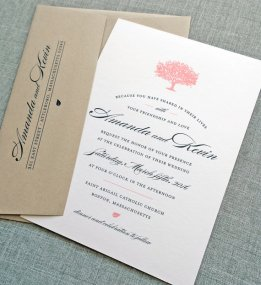 Coral tree wedding invitation - www.etsy.com/shop/CricketPrinting