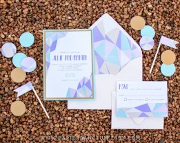 Geometric wedding invitation - www.etsy.com/shop/PapierSanctum