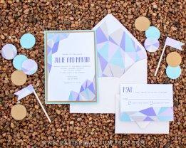 Geometric wedding invitation - www.etsy.com/shop/PapierSanctum